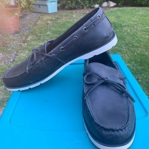 NEW SPERRY NAVY LEATHER BOAT CAMP MOCCASINS 11